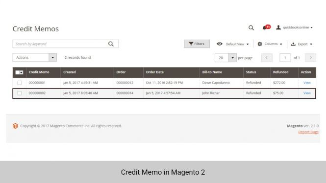 Credit Memo in Magento 2