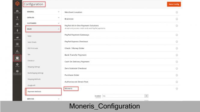 Moneris Configuration on Magento 2