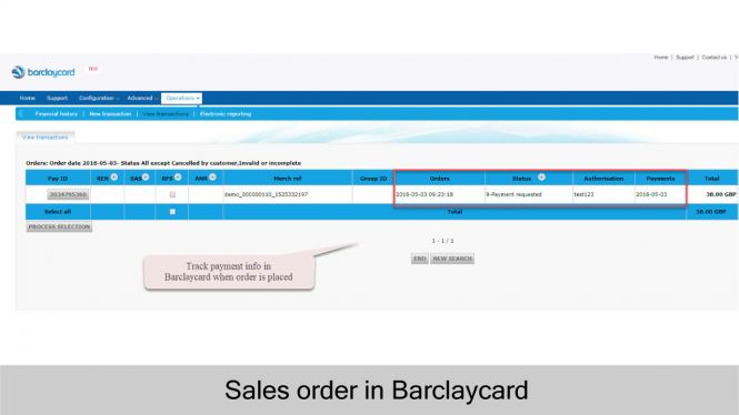 View payment in Barclaycard when order is placed in Magento 2