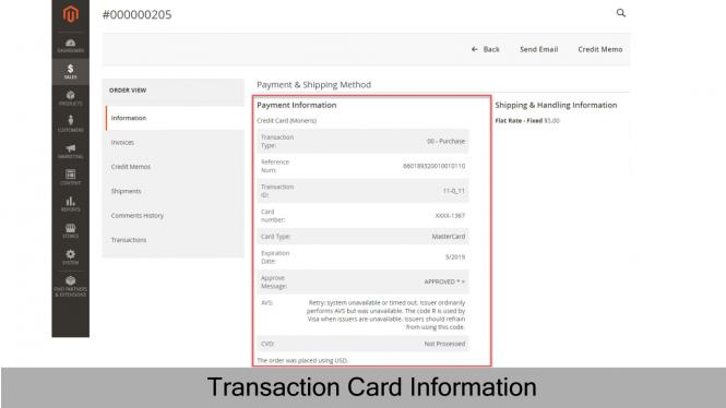 Transaction card information