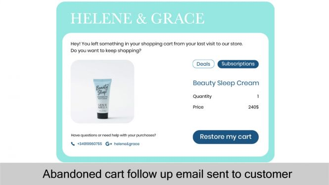 Send abandoned cart follow up email to customers