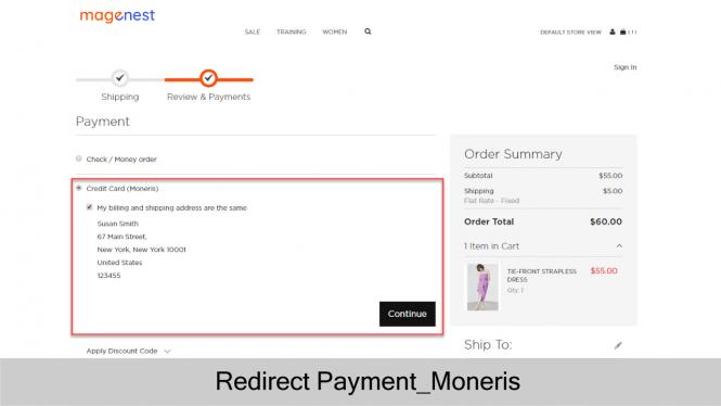 Moneris Checkout Process_Front-end View