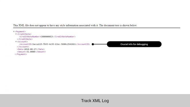 Admin can track XML log for easier debugging
