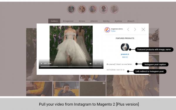 magento 2 instagram feed pull video