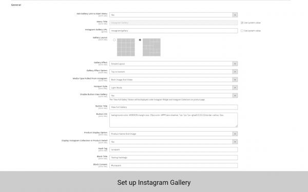 magento 2 instagram shop set up gallery