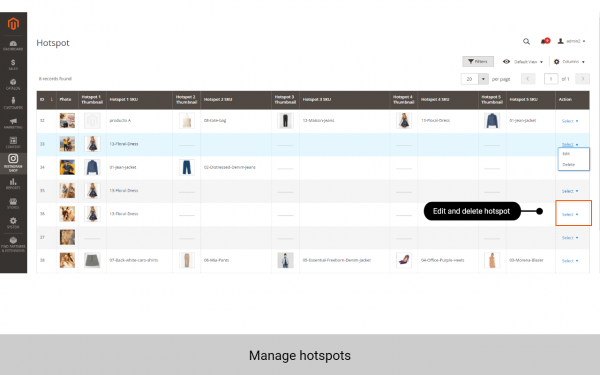 magento 2 instagram integration manage hotspots