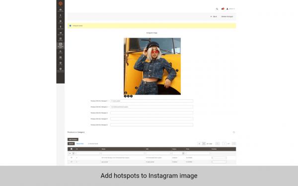 magento 2 instagram extension add hotspots