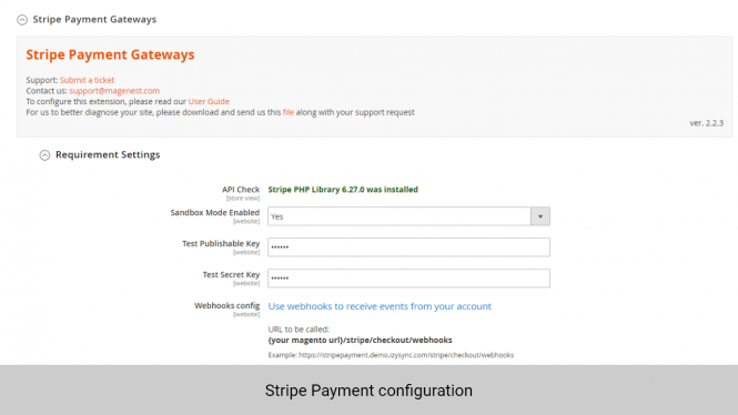 Magento 2 Subscription and Recurring Payments: stripe payment configuration