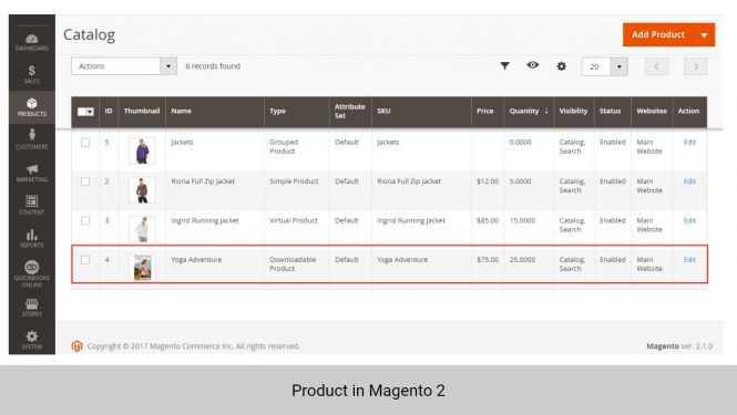Product in Magento 2