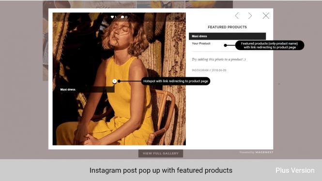 Magento 2 Instagram Feed Screenshots