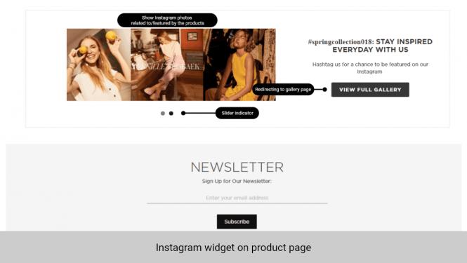 Magento 2 Instagram Feed Widget