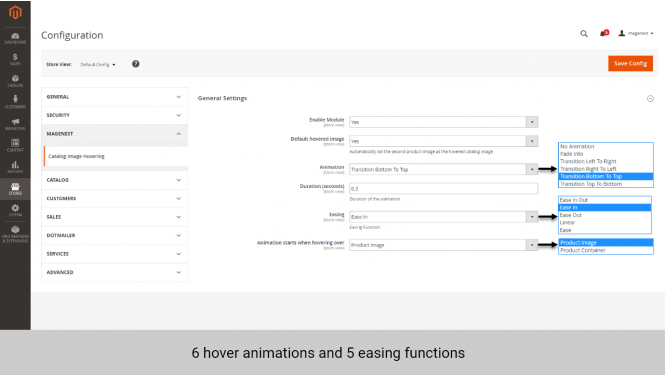 Magento product image 6 animations 5 functions
