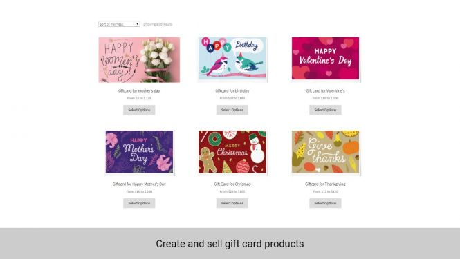 Apart from default product types, admin can create gift card product