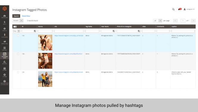 Instagram Shop Magento 2