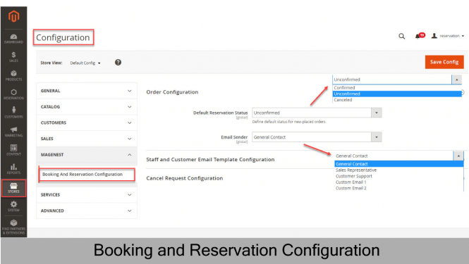 Booking and Reservation Configuration 1