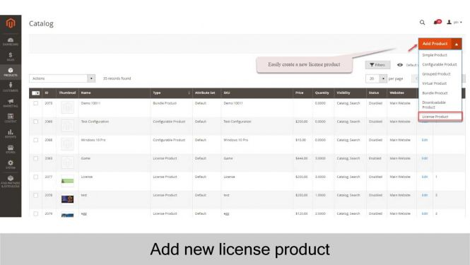 Create new license product with ease