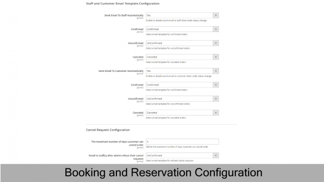 Booking and Reservation Configuration 2
