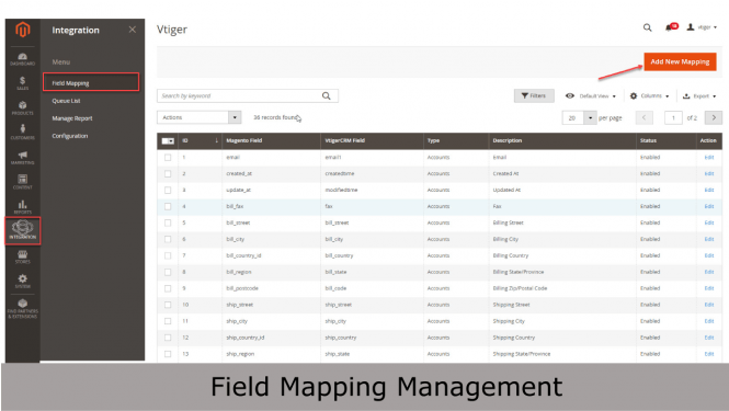 Easily manage your mapping with intuitive grid layout