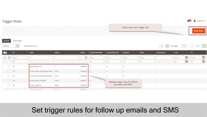 Set trigger rules for follow up emails