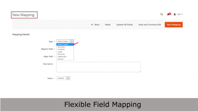 Add new mapping for Accounts, Contacts, Leads, Products, Sales Orders, Invoices