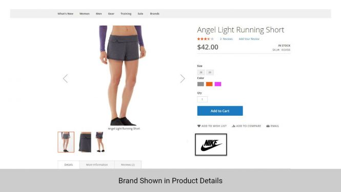 Magento 2 shop by brand extension will be displayed on the product detail page