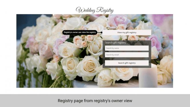 Registry's owner view