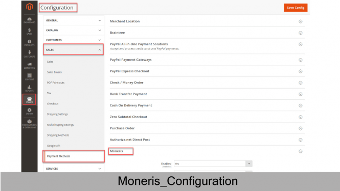 Moneris Configuration on Magento 2