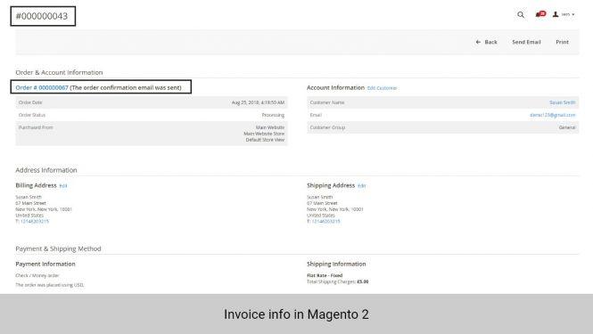 Invoice info in Magento 2
