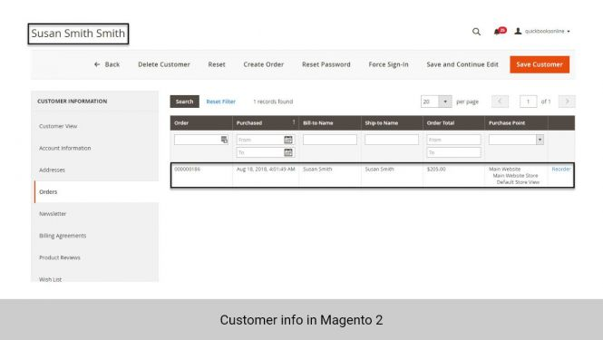 Customer in Magento 2