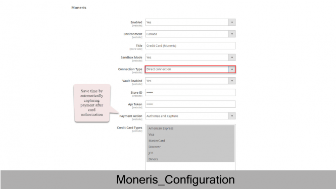 Moneris Configuration Direct Connection