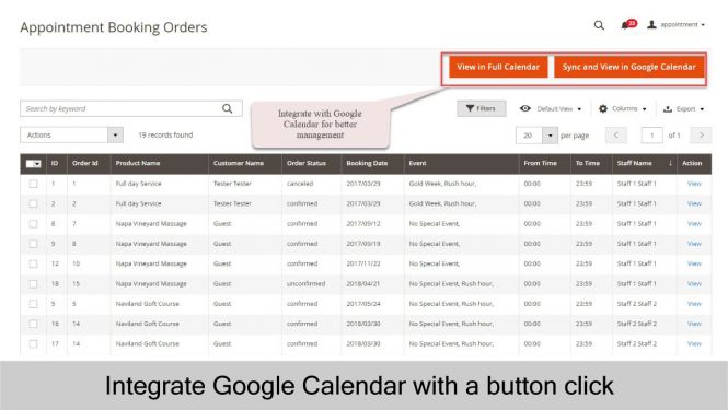 Google calendar integration for better appointment management experience