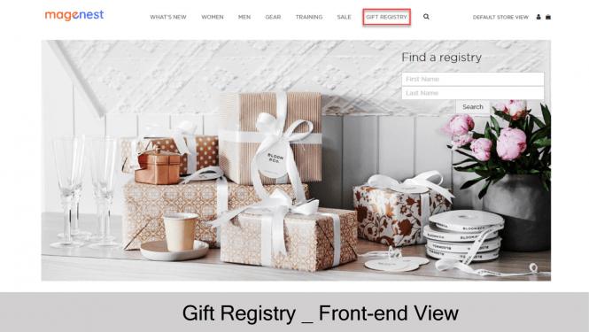 Gift Registry on store