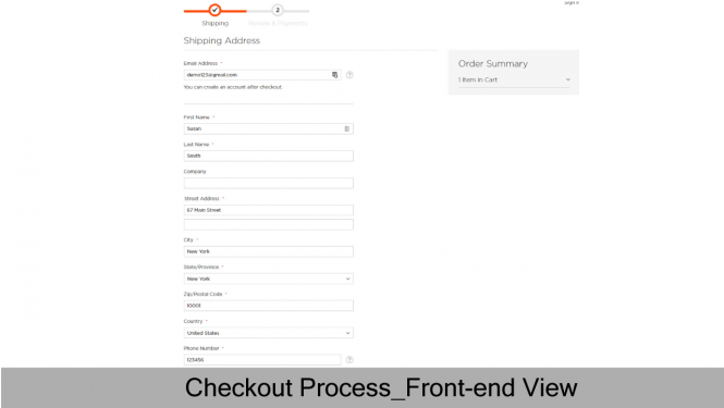 Checkout Process