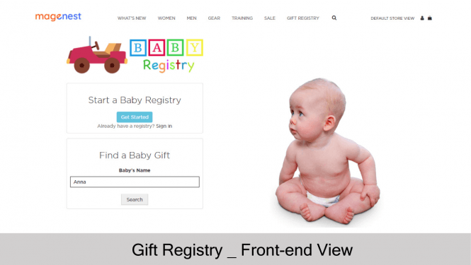 Baby Registry on store