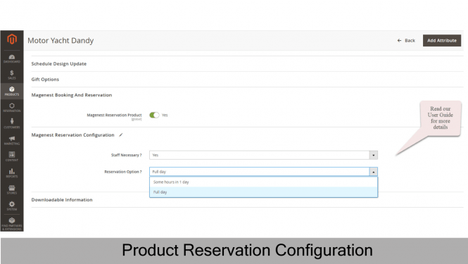Product Reservation Configuration