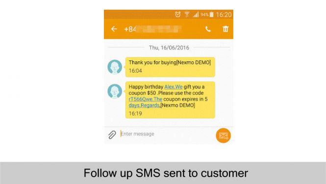 Magento 2 Follow Up Email Send follow up SMS to customers