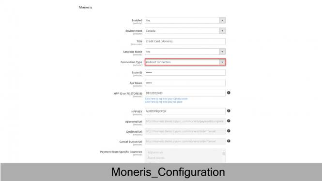 Moneris Redirect Payment