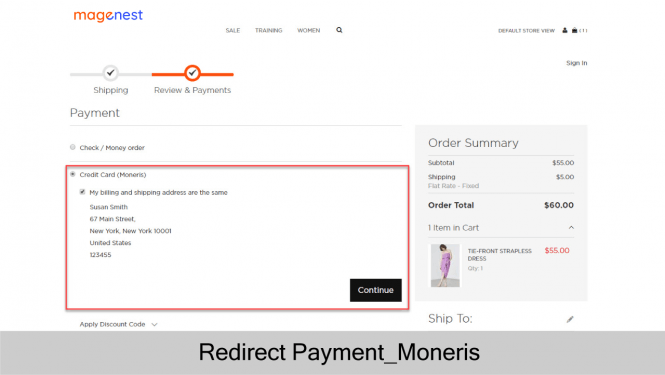 Moneris Checkout Process_Front-end View