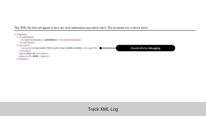 Admin can track XML log for easier debugging