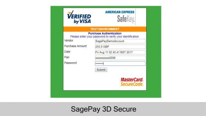 Sage Pay 3D Secure