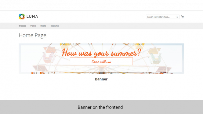 Magento 2 Image Slider on frontend