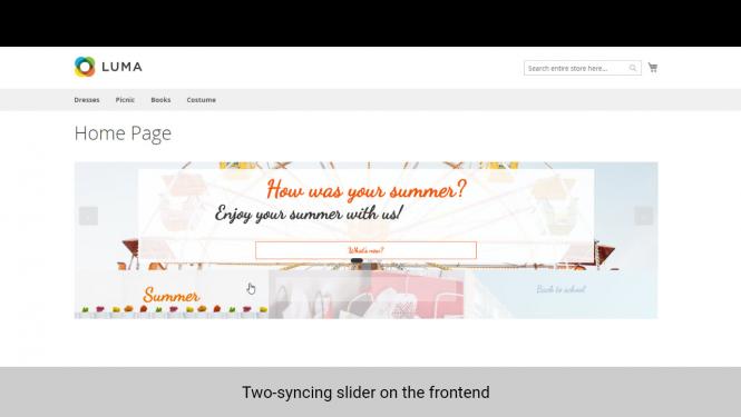 Magento 2 Banner Slider two-syncing slider