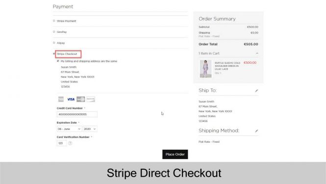 Magento 2 Stripe Payment Extension Direct Checkout
