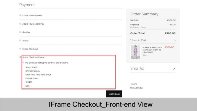Magento 2 Stripe Payment Extension Checkout with Stripe IFrame