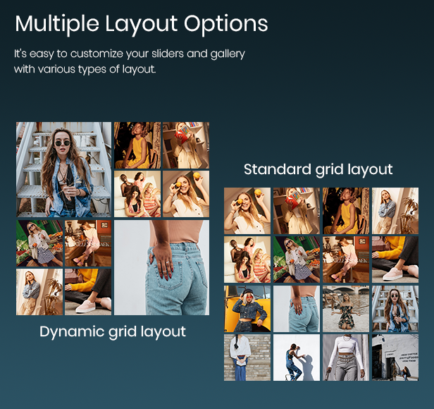 display instagram slider in two layouts