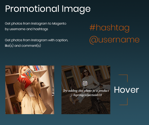 display instagram photos with featured products