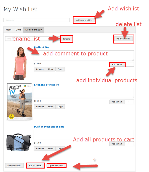 Magento 2 Multiple Wishlists Extension Magenest edit