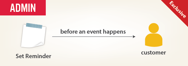send reminder to customer when events approach