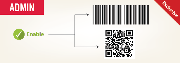 add barcoe or QR code to tickets