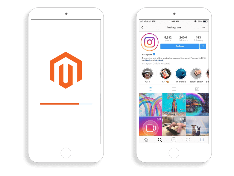 Magento 2 Instagram Shop integrate instagram account